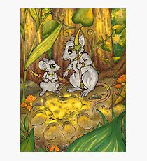 Hunting Lessons - Tribal Mice in the Jungle Photographic Print