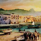 Kyrenia - colour drawing by talesofcyprus