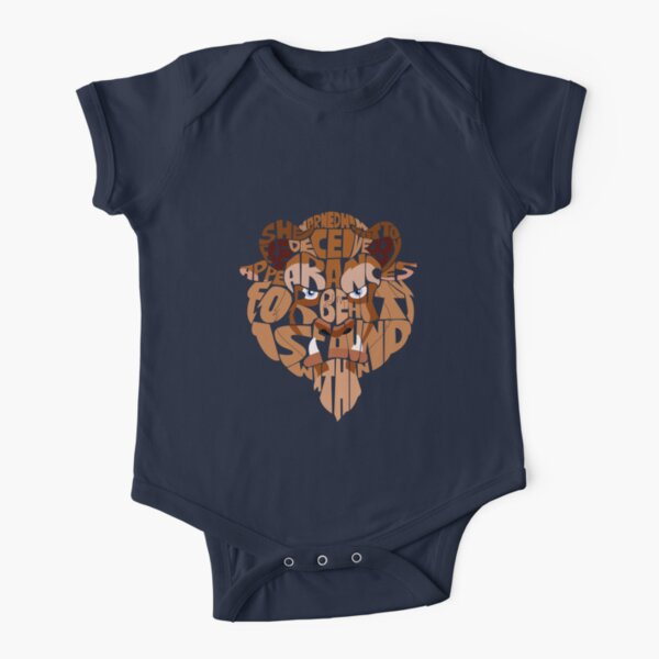 beast Short Sleeve Baby One-Piece