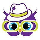 Purple Christian Swag Owl by Kasey Hodges