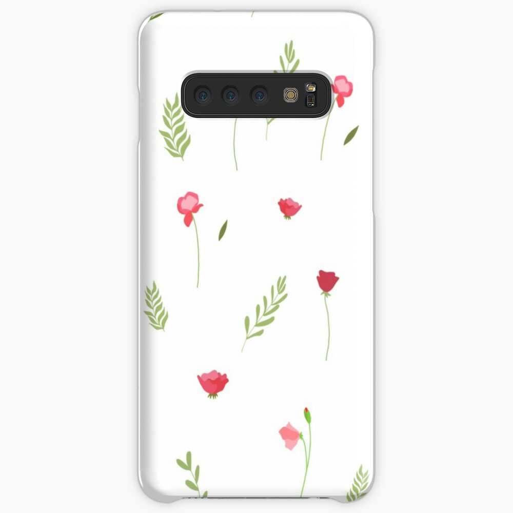 Flower and Leaf Pattern Samsung Galaxy Snap Case