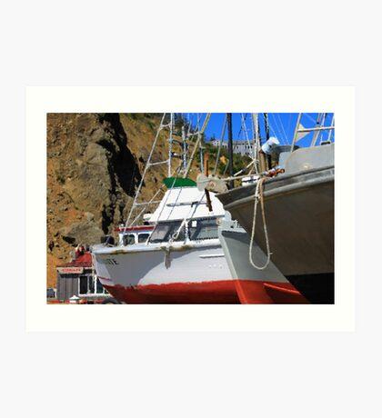 Boats In Drydock Art Print