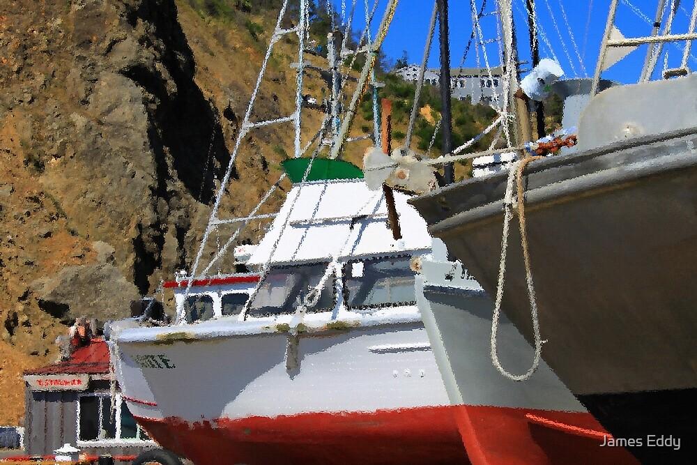 Boats In Drydock by James Eddy