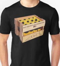 Hand Drawn New Zealand Crate - Yellow Slim Fit T-Shirt