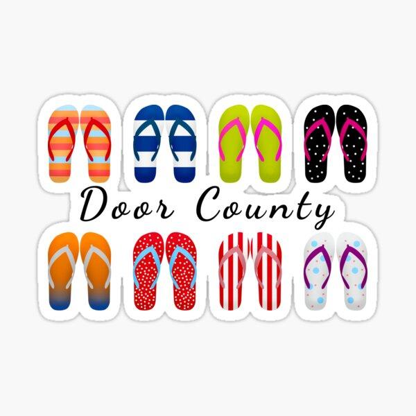 Door County Sandals Sticker