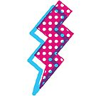 Pink and Blue Lightning Bolt by Kasey Hodges