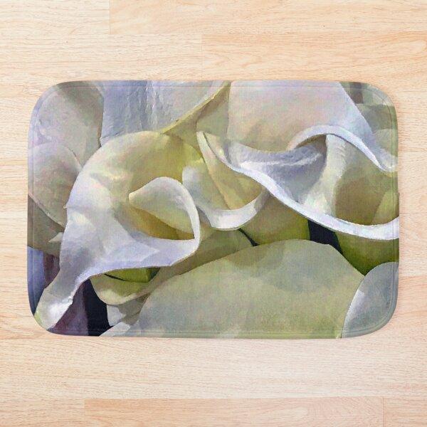 Ivory Lilies of Elegance and Grace Art Photo Bath Mat