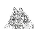 Geometric Cat by ArtByMichelleT