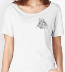 Geometric Cat Relaxed Fit T-Shirt