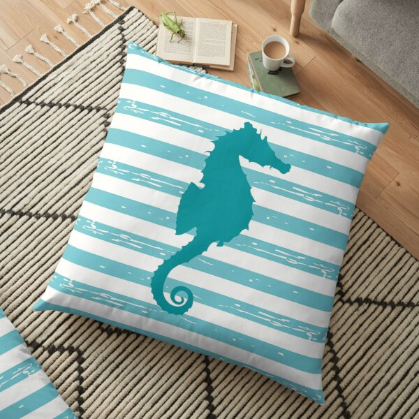 AFE Turquoise Seahorse Floor Pillow