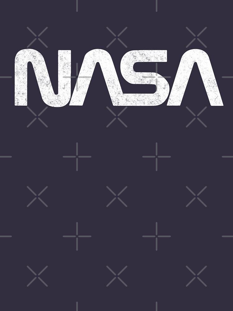 NASA - vintage worm logo by Primotees