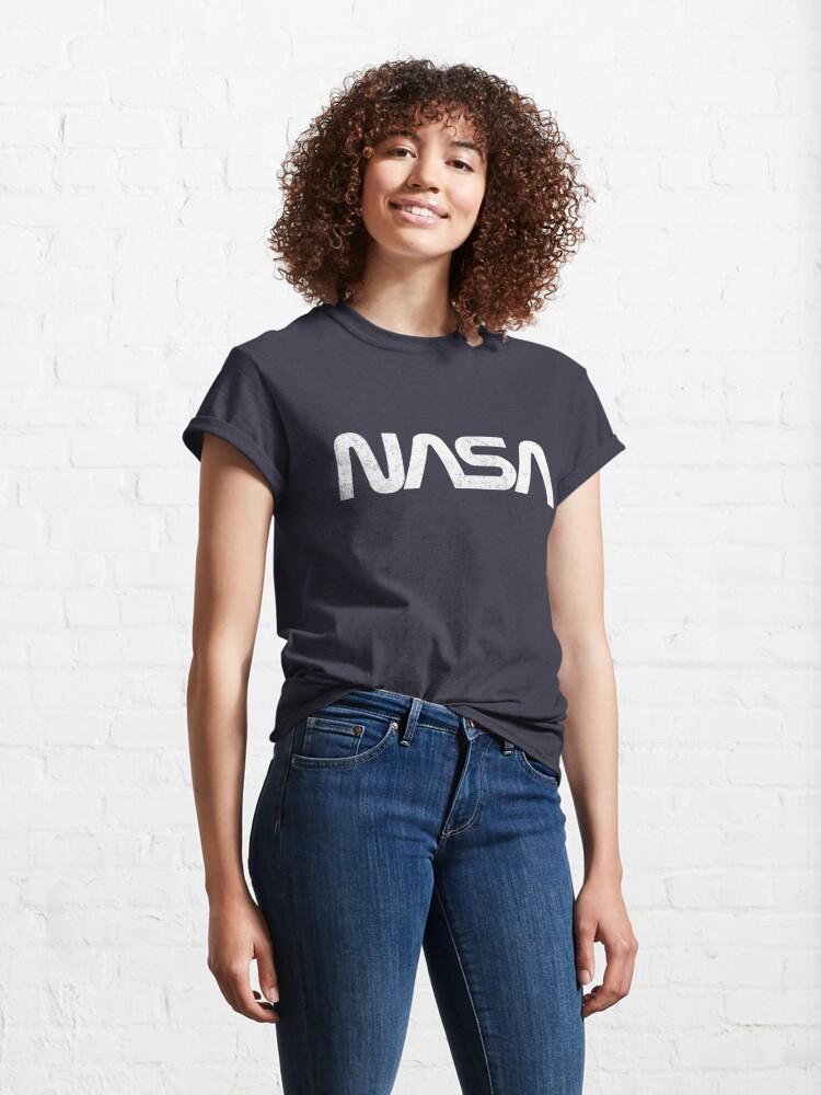 Alternate view of NASA - vintage worm logo Classic T-Shirt