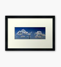 ©HCS Spring Clouds And Tower IA Framed Print