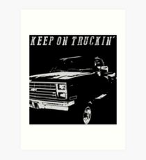 """Keep on Truckin'"" Vintage Chevy Silverado Art Print"