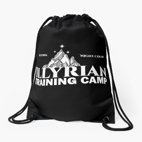 Illyrian Training Camp, Cassian, Azriel, Rhysand, ACOTAR, Night Court, A Court of Thorns and Roses Drawstring Bag