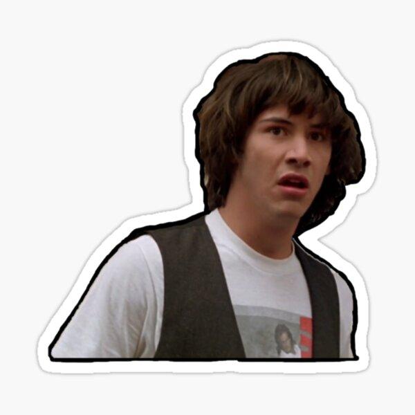 Confused Keanu Sticker