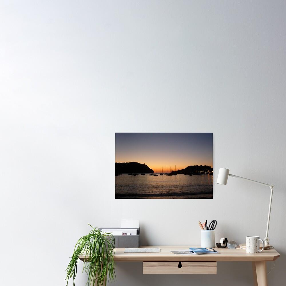 Sunset Port de Soller Poster