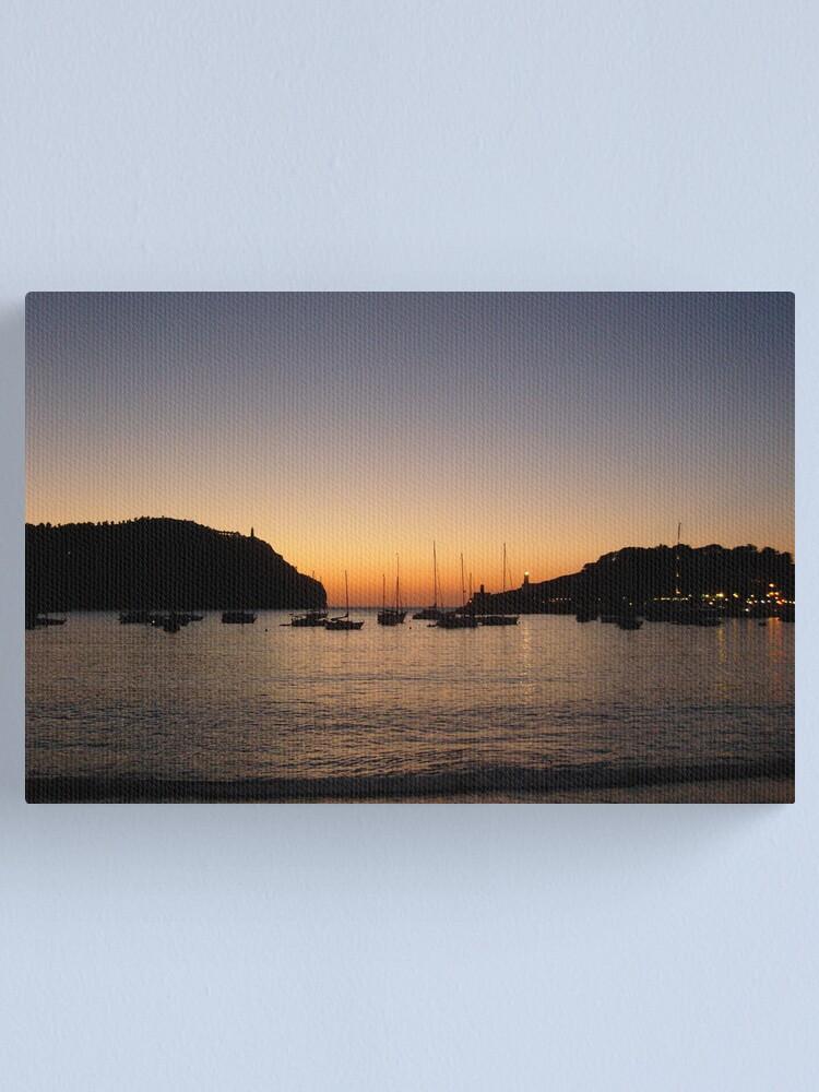 Alternate view of Sunset Port de Soller Canvas Print