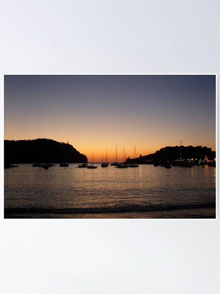 Alternate view of Sunset Port de Soller Poster
