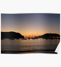 Sunset Port de Soller Poster