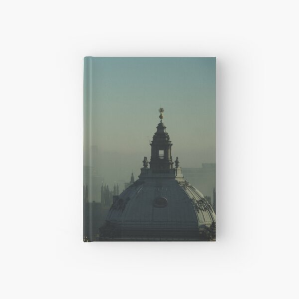 London morning dirty fog Hardcover Journal