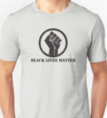 BLACK LIVES MATTER SCHWARZ POWER FIST Slim Fit T-Shirt