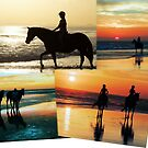 Beach Ride Collage by Gabrielle  Lees