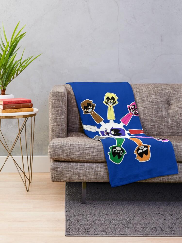 Alternate view of Raven's Emoticlones Throw Blanket