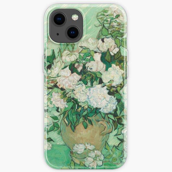 Vincent van Gogh Roses 1890 Painting iPhone Soft Case