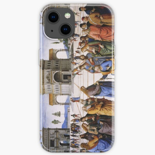 The Delivery of the Keys Painting by Perugino Sistine Chapel iPhone Soft Case