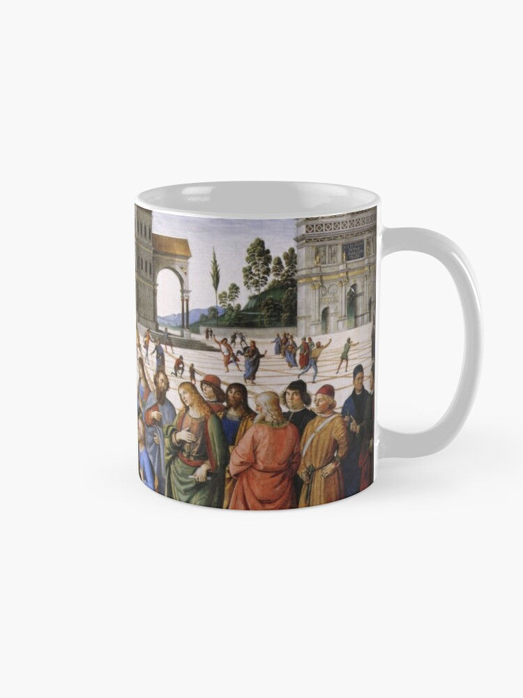 Alternate view of The Delivery of the Keys Painting by Perugino Sistine Chapel Mug