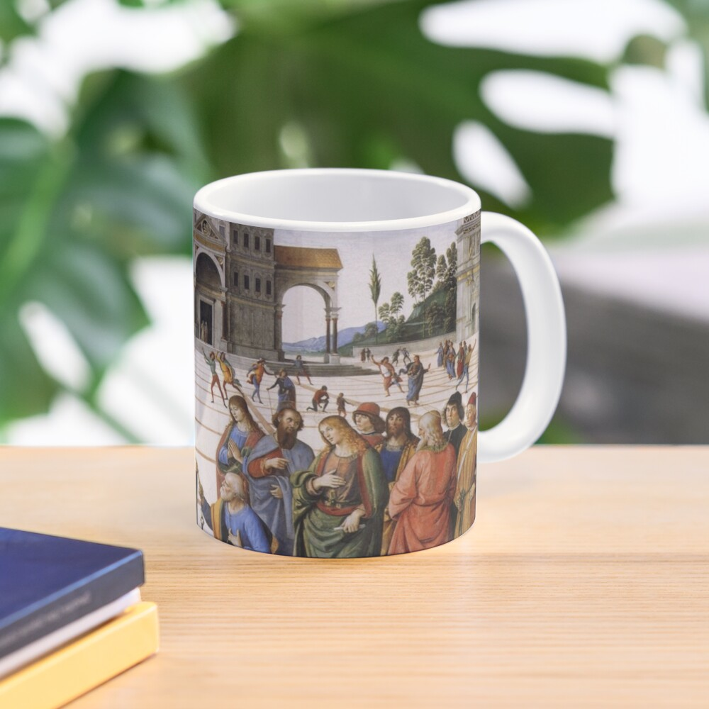 The Delivery of the Keys Painting by Perugino Sistine Chapel Mug