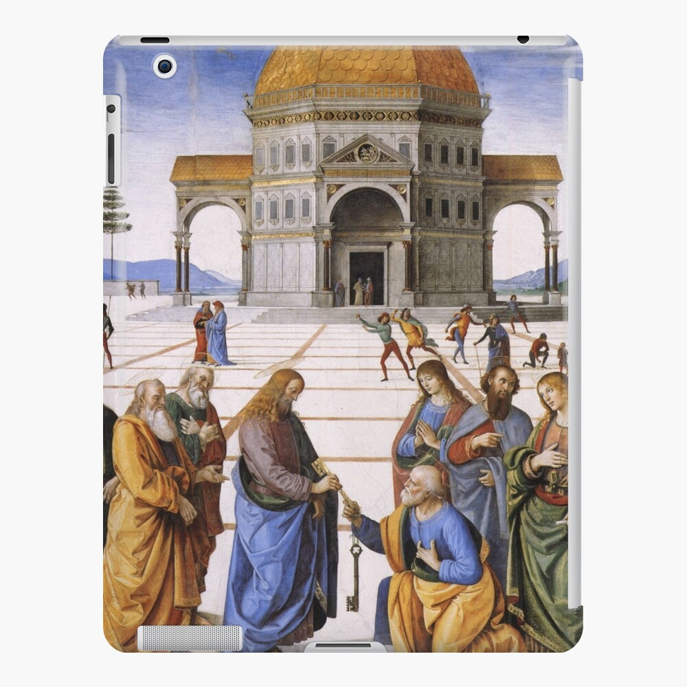 The Delivery of the Keys Painting by Perugino Sistine Chapel iPad Case & Skin