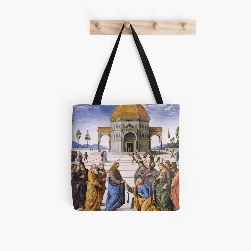 The Delivery of the Keys Painting by Perugino Sistine Chapel Tote Bag