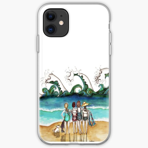 Four and a dog iPhone Soft Case