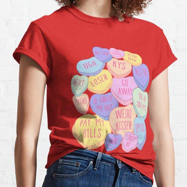 valentine shirt heat transfer cotton tshirt transfer candy heart shirt transfer conversation heart sublimation transfer ready to press