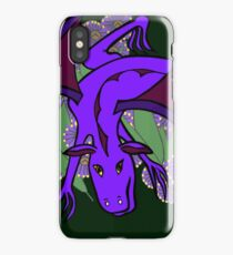 Purple Dragon at play iPhone Case/Skin