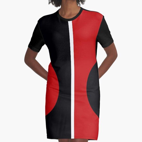 60s mod | Círculo rojo y negro Mondrian Vestido camiseta