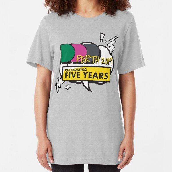 DDD Perth - Celebrating 5 years Slim Fit T-Shirt