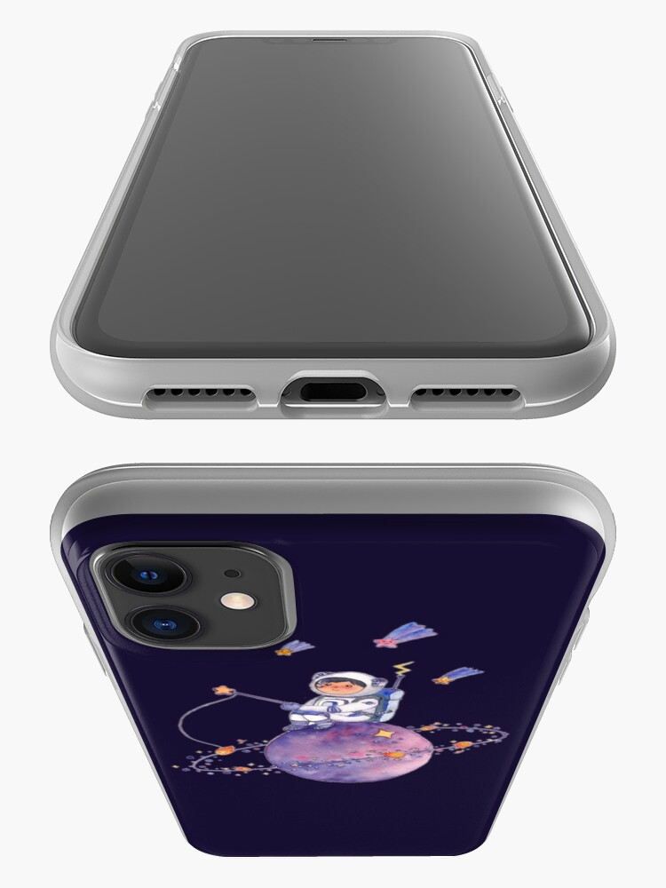 Alternate view of Astronaut catching Asteroids on a Star iPhone Case & Cover