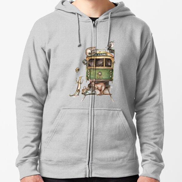 Melbourne tram Zipped Hoodie