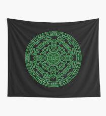 Bureau of Memetic Warfare Circle -green- Wall Tapestry