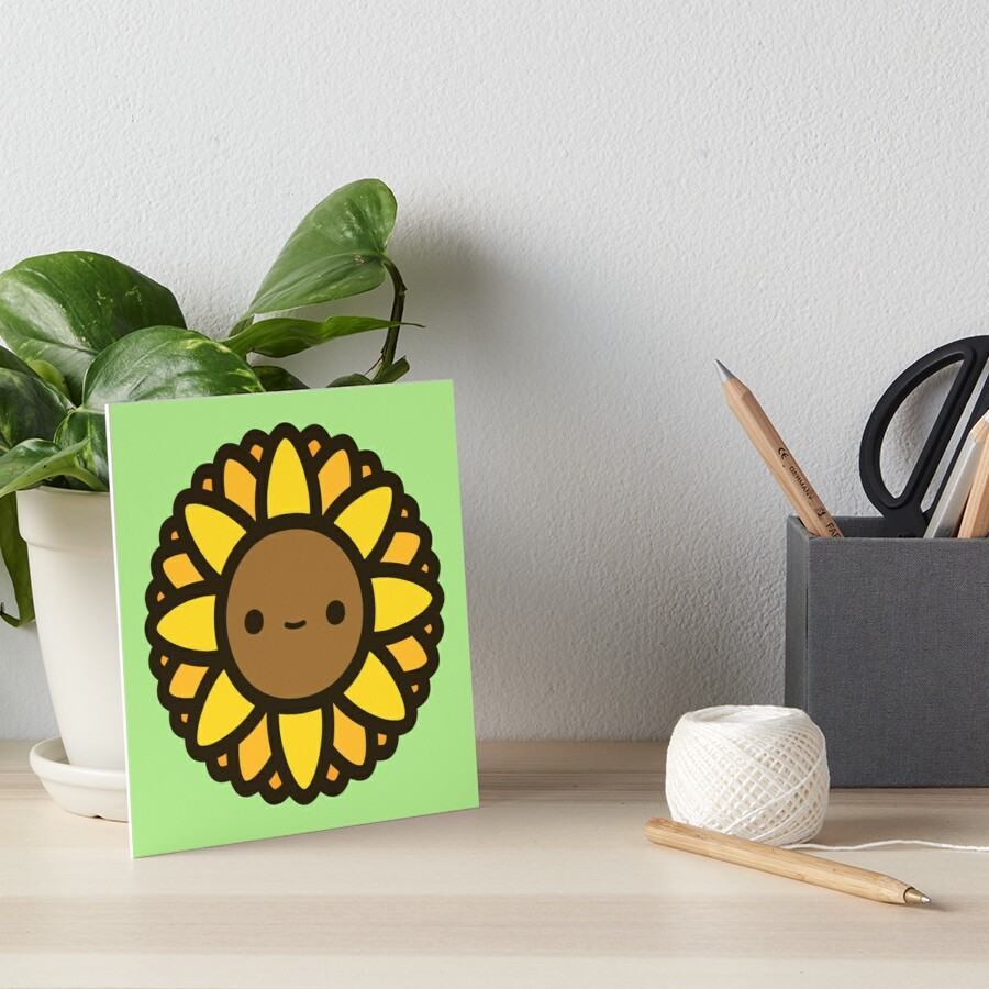 Cute sunflower Art Board Print