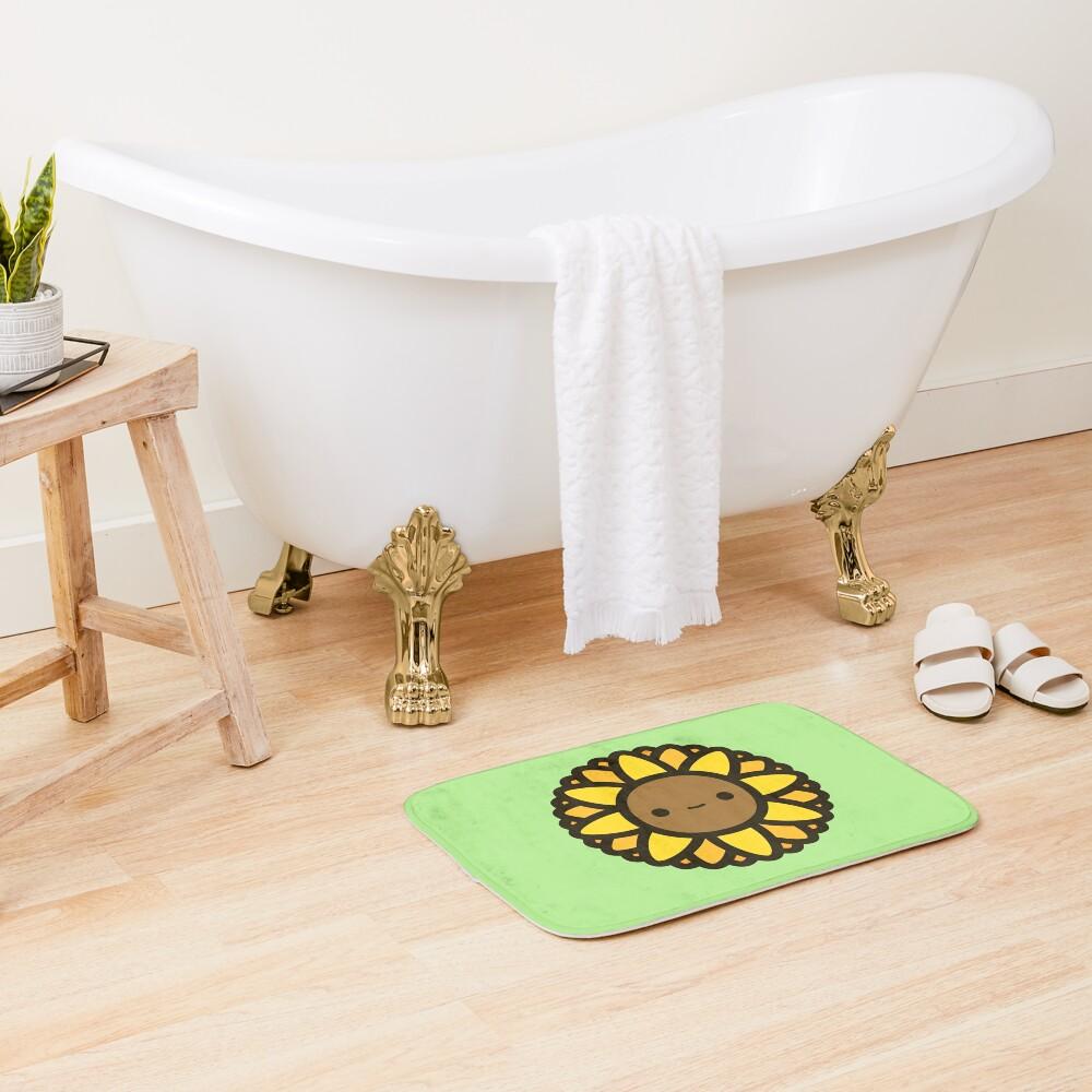 Cute sunflower Bath Mat
