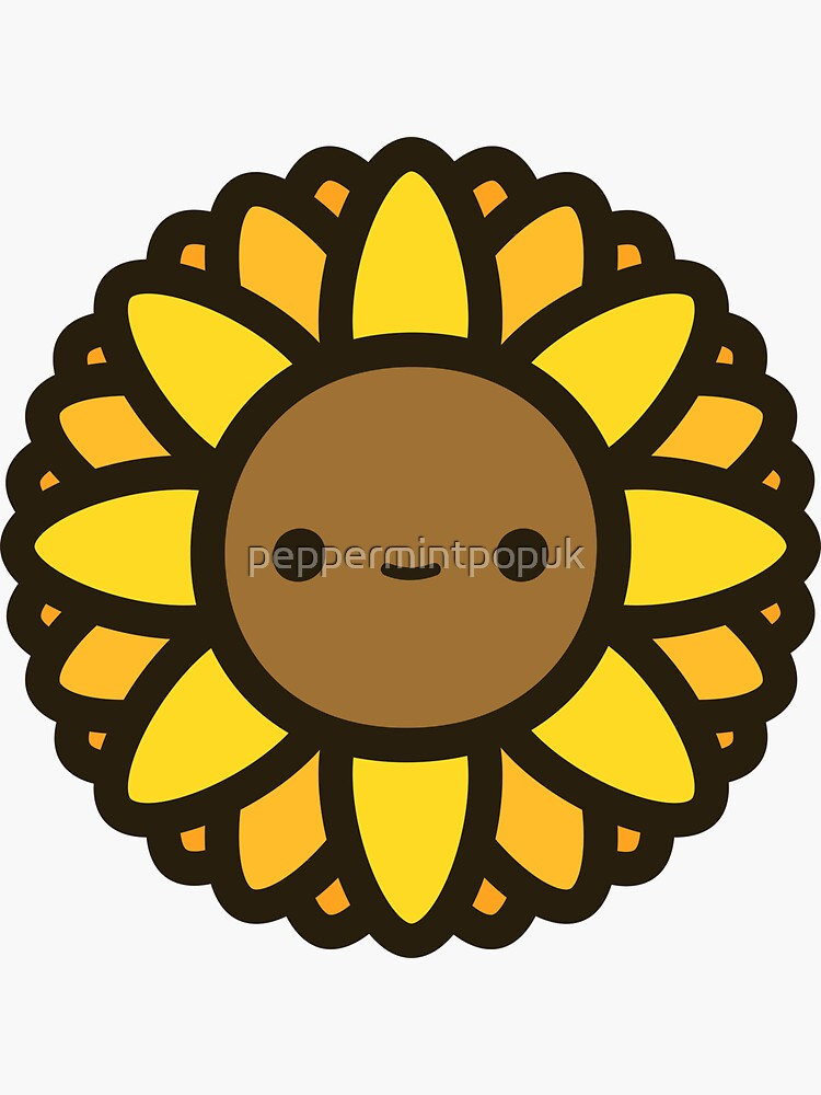 Cute sunflower by peppermintpopuk