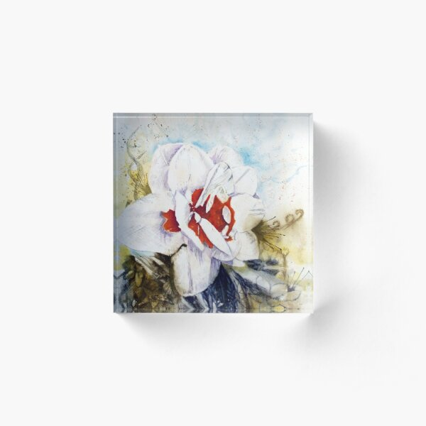 Floral Fantasy Acrylic Block