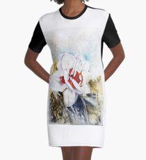 Floral Fantasy Graphic T-Shirt Dress