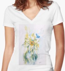 Daffodil Dance Fitted V-Neck T-Shirt