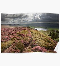 Embsay Crag & Reservoir From Embsay Moor Poster