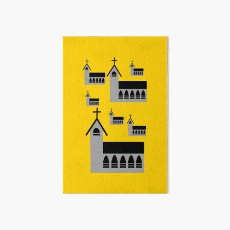 Church buildings in a pattern Art Board Print